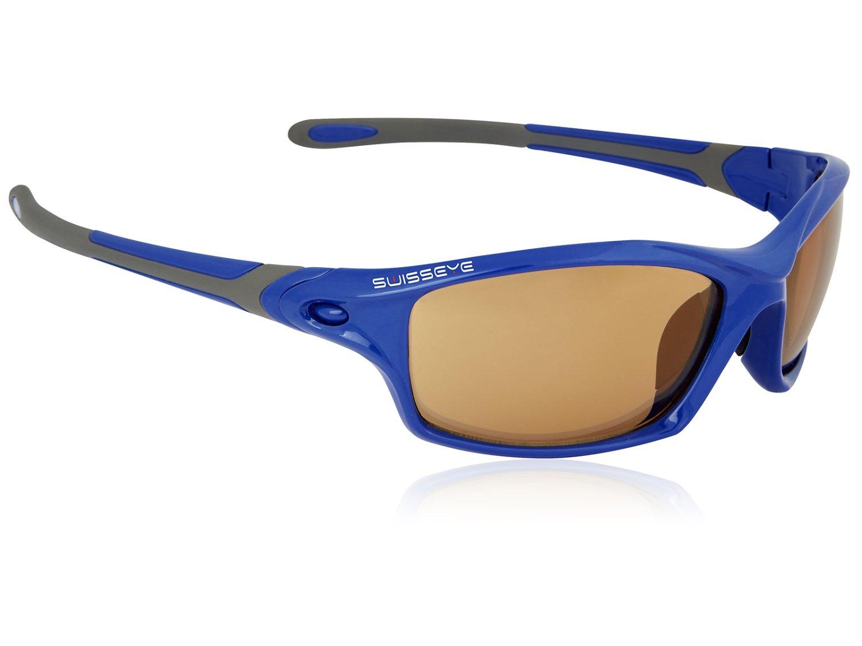 Очки велосипедные SWISSEYE Grip спортивные, оправа: синий глянец/серый, 12265