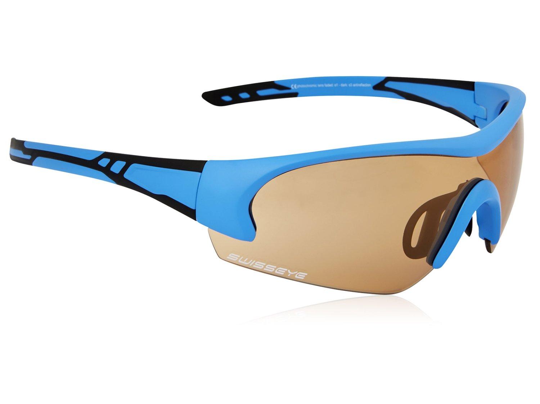 Велоочки Move спортивные с регулируемыми носовыми упорами: оправа матово-синий/чёрный, 12175