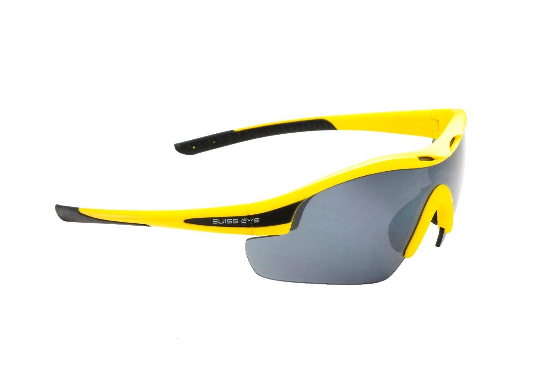 Очки SWISSEYE Novena S спортивные: оправа жёлтая матовая-чёрная, 12483