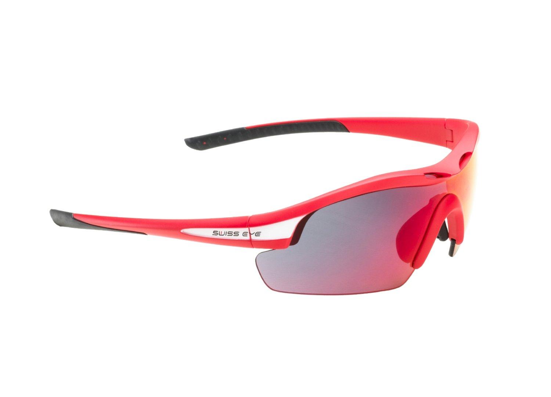 Очки велосипедные SWISSEYE Novena S спортивные: оправа красная матовая-чёрная, 12487