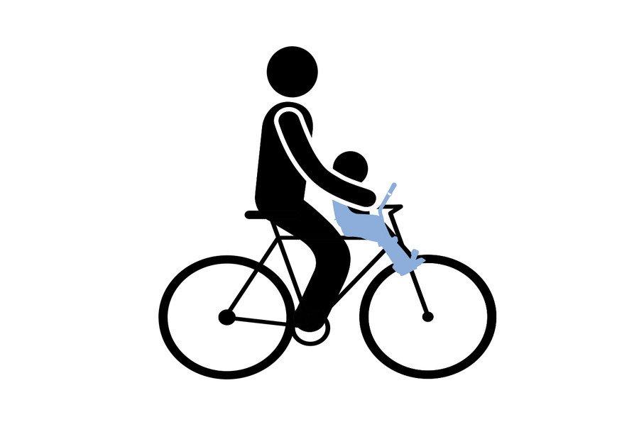 Детское велокресло Thule Yepp Mini, переднее, серебристый, 12020105