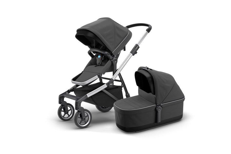 Детская коляска с люлькой Thule Sleek + Bassin, серый, 11000008