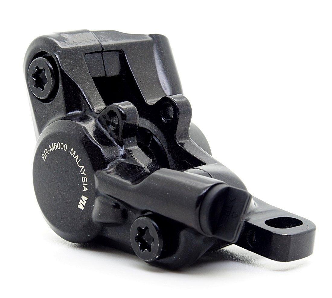 Калипер гидравлический M6000 Shimano, черный, композитные колодки G01S, без адаптера