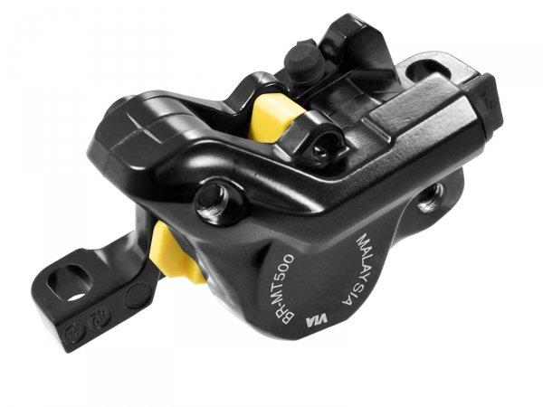 Калипер гидравлический MT500 Shimano, черный, композитные колодки G01S, без адаптера
