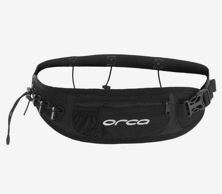 Ремень Orca RACE BELT WITH POCKET для номера с карманом черный 2018 FVAG.