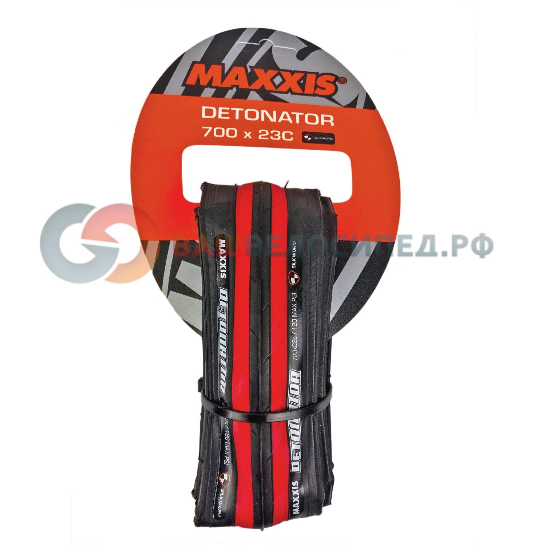 Покрышка Maxxis Detonator, слик, шоссе, 700x23C, TPI 60, сталь, устойчивость к проколам, TB86352000