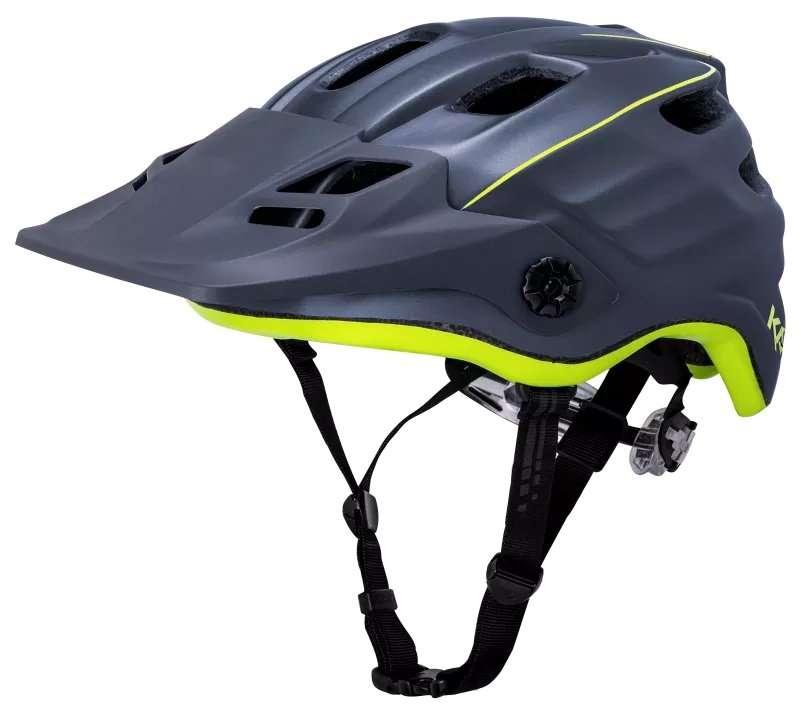 Шлем велосипедный KALI ENDURO/MTB MAYA2.0 REVOLT, матовый неоново-черный 2019 (Размер: 55-61см )
