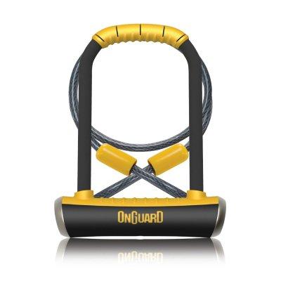 Велосипедный замок Onguard PITBULL DT U-lock трос на ключ 115 x 230мм трос 1200 х 10мм 8005.