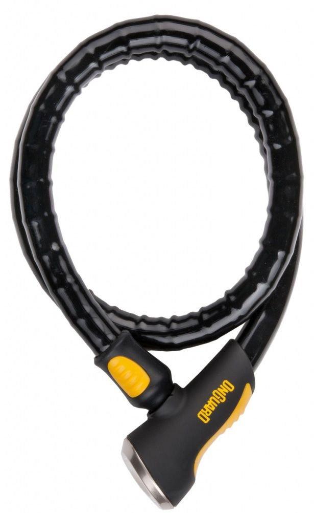 Велосипедный замок ONGUARD ROTTWEILER армированый трос на ключ 1000  х 20мм черный 8026.