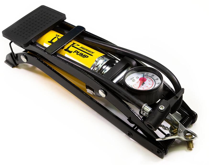Насос Bee Pump ножной с манометром однобалонный широкая помпа сталь FP9802A.