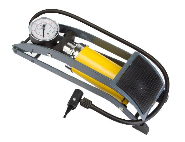 Насос Bee Pump ножной с манометром однобалонный широкая помпа алюминий FP0902A.