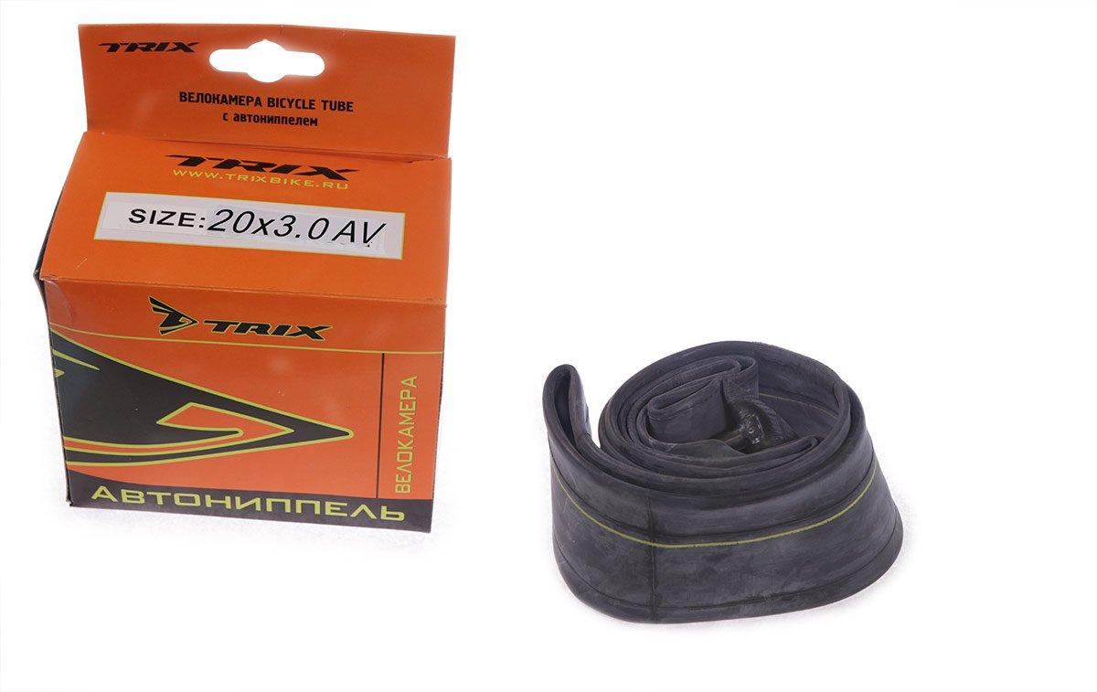 Камера велосипедная TRIX, 20x3.0 мм, автониппель, бутиловая