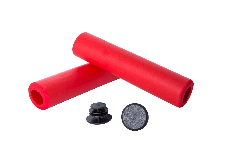 Грипсы Green Cycle GGR-701 130 мм вспененный силикон красные.