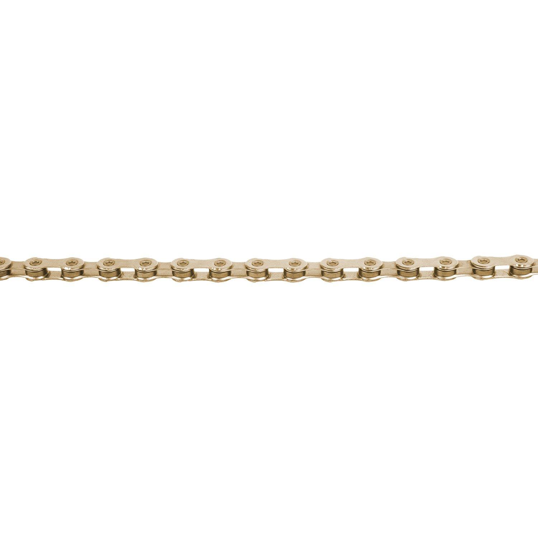Велосипедная цепь KMC X12 126 звеньев, золотой, 303511