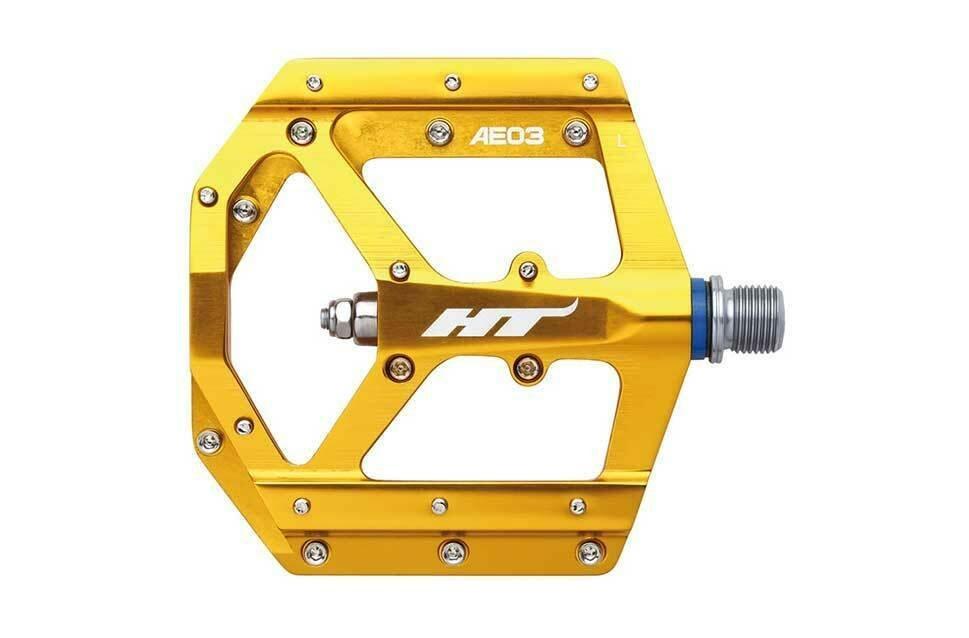 Педали велосипедные HT AE03, золотой, AE03202101