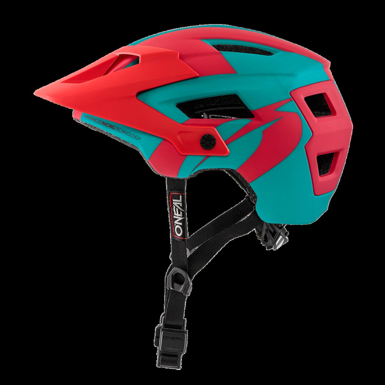 Шлем велосипедный O´Neal Defender 2.0 серебристо-сине-красный  (Размер: L/58-Xl/61).