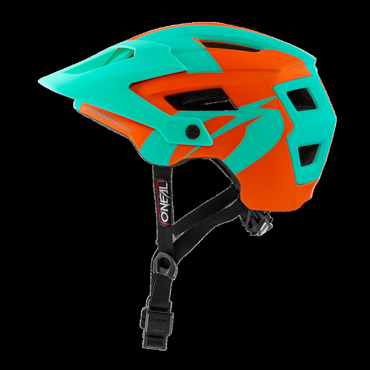 Шлем велосипедный O´Neal Defender 2.0 серебристо-оранжево-голубой  (Размер: L/58-Xl/61).
