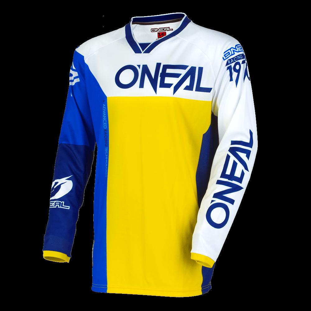 Велоджерси O'Neal AMAYHEM LITE SPLIT сине-желтый 2019 (Размер: L).