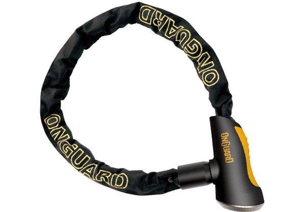 Велосипедный замок Onguard MASTIFF на ключ цепь усиленная титаном + интегрированный замок 1200 x 8мм  8120.