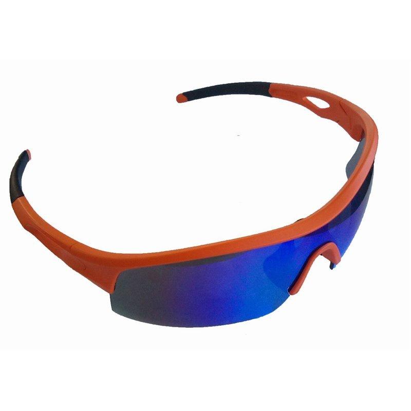 Очки велосипедные Green Cycle GGL-422 c тремя сменными линзами + футляр + чехол оранжевые.
