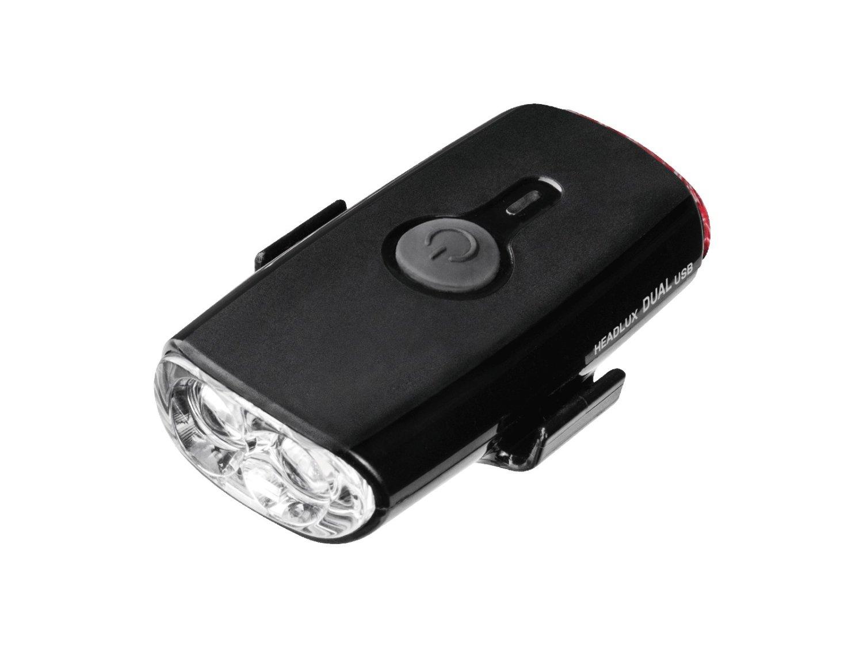 Фонарь велосипедный TOPEAK HEADLUX DUAL USB, на шлем, Black, TMS090B
