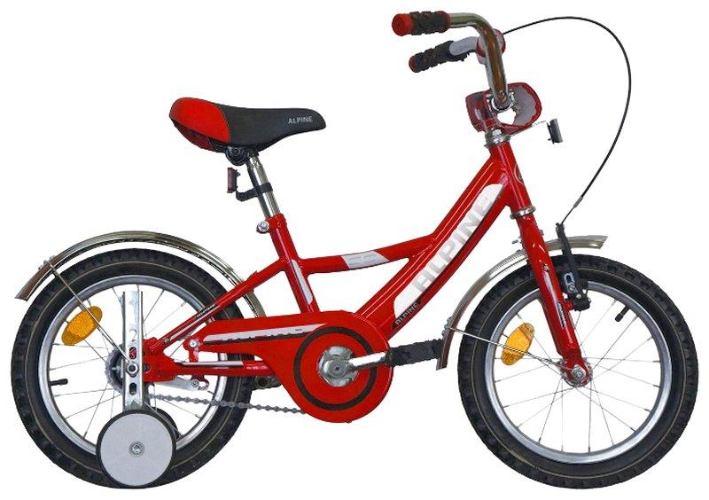 """Детский велосипед Alpine Bike BASIC 14"""" (Возраст: 2-5 лет ( Рост: до 105 см), Цвет: красный)"""