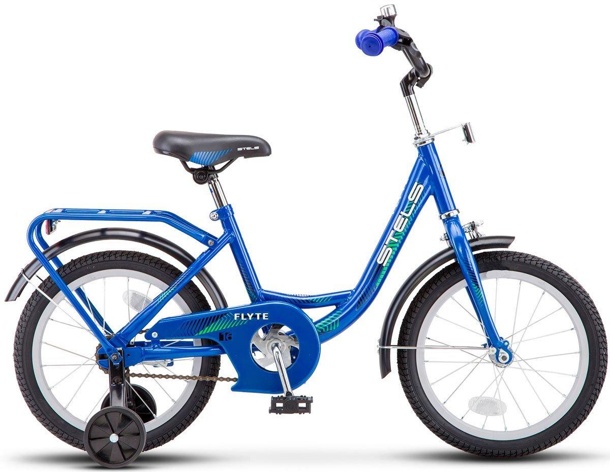 "Детский велосипед Stels Flyte Z011 14"" 2018 (Рама: 9,5 (Рост: 90-110см), Цвет: синий)"