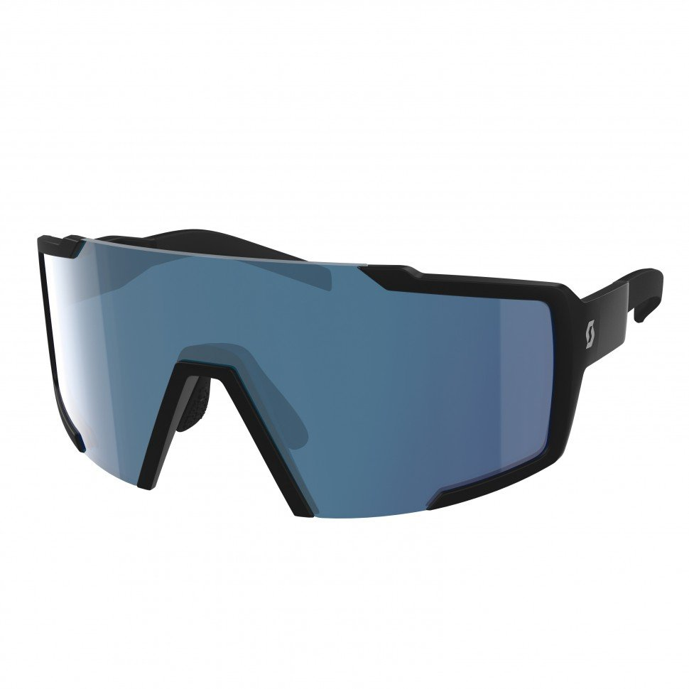 фото Очки велосипедные scott shield black matt blue chrome enhancer, 275380-0135012