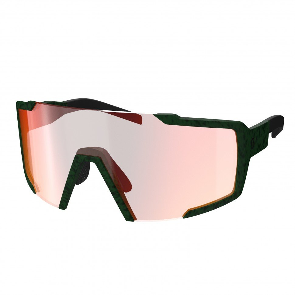 фото Очки велосипедные shield iris green red chrome enhancer, 275380-6523009 scott