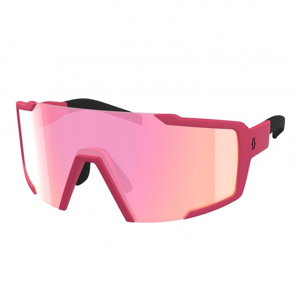 Очки велосипедные SCOTT Shield pink matt pink chrome 275380-6534276.