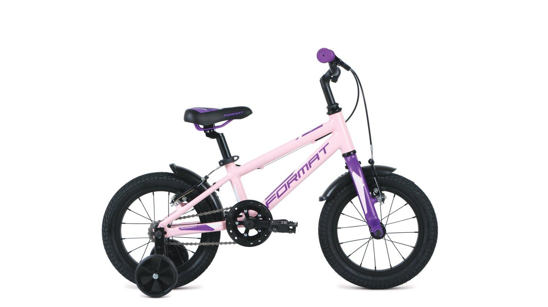 """Детский велосипед FORMAT Kids 14"""" 2020 (Рама: OS (Рост: 90-110см), Цвет: зеленый)"""