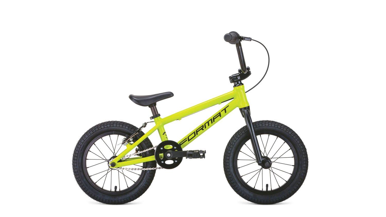 Детский велосипед FORMAT Kids BMX 14 2020 (Рама: OS (Рост: 90-110см) Цвет: желтый матовый).