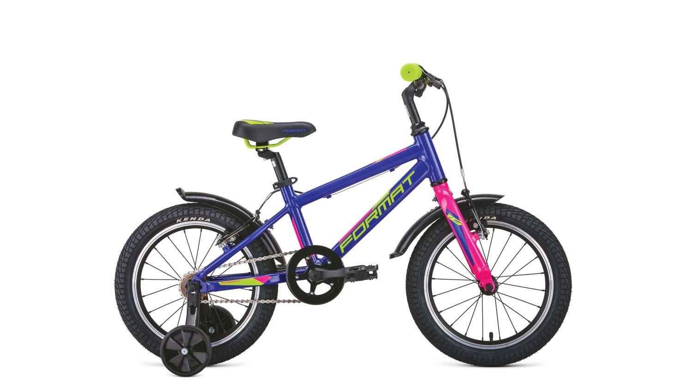 """Детский велосипед FORMAT Kids 16"""" 2020 (Рама: OS (Рост: 99-120см), Цвет: фиолетовый)"""