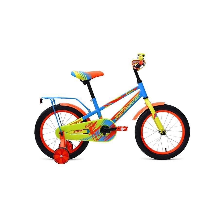 """Детский велосипед FORWARD METEOR 16"""" 2019 (Рост: 100-118 см, Цвет: желтый/синий)"""