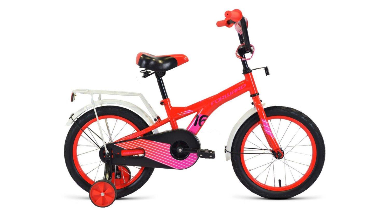 """Детский велосипед FORWARD CROCKY 16"""" 2020 (Рост: 100-118 см, Цвет: бирюзовый/оранжевый)"""