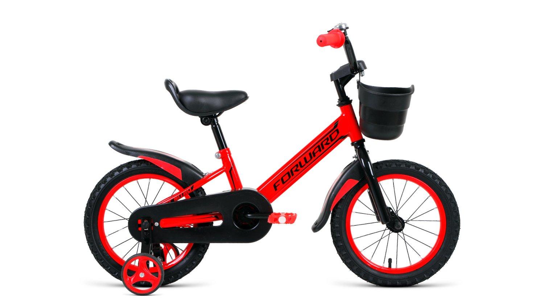 """Детский велосипед FORWARD NITRO 14"""" 2019 (Возраст: 3-5 лет (Рост: 90-110см), Цвет: серый)"""