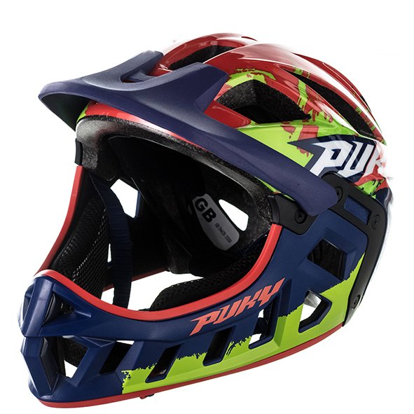 Шлем велосипедный Puky, фулфейс, blue/kiwi (Размер: M (Обхват головы: 54-58 см))