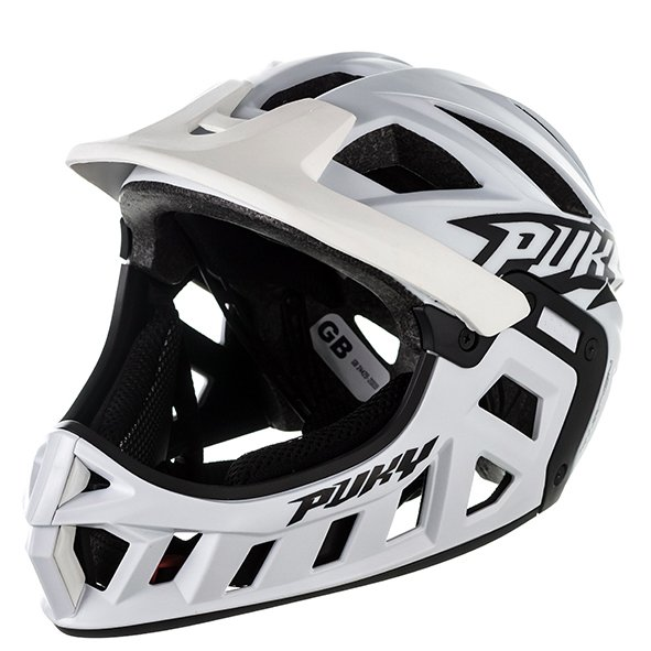 Шлем велосипедный Puky, фулфейс, white (Размер: M (Обхват головы: 54-58 см))