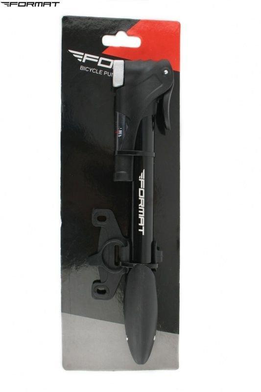 Насос компактный (ручной) FORMAT M21B-01 алюминиевый с манометром универсальный RPUM21B01001.