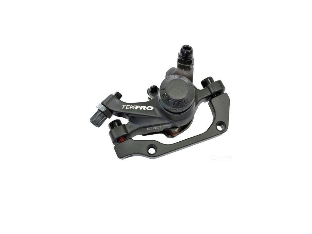 Велотормоз (суппорт) TEKTRO MD-M280 disc механика под ротор F160/R140 IS PM с адаптером черный 1BRAAB300024.