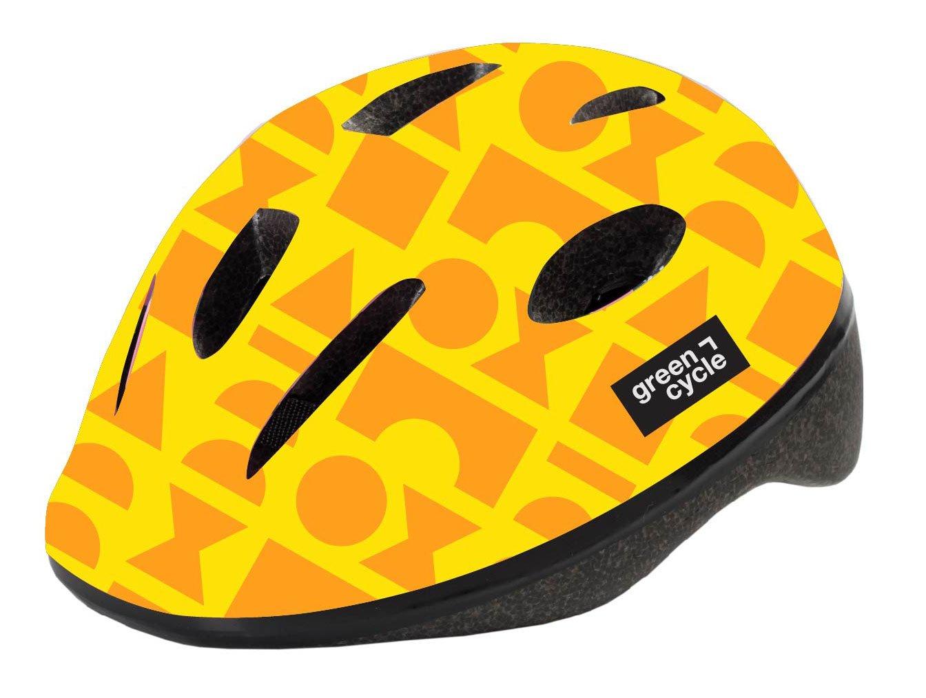 Шлем велосипедный детский Green Cycle FLASH, желтый лак (Размер: 48-52см )