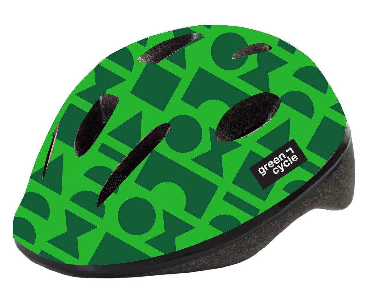 Шлем велосипедный детский Green Cycle FLASH, зеленый лак (Размер: 48-52см )