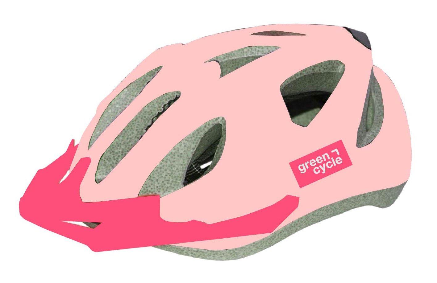 Шлем велосипедный детский Green Cycle FRIDA, розовый лак (Размер: 50-56см)