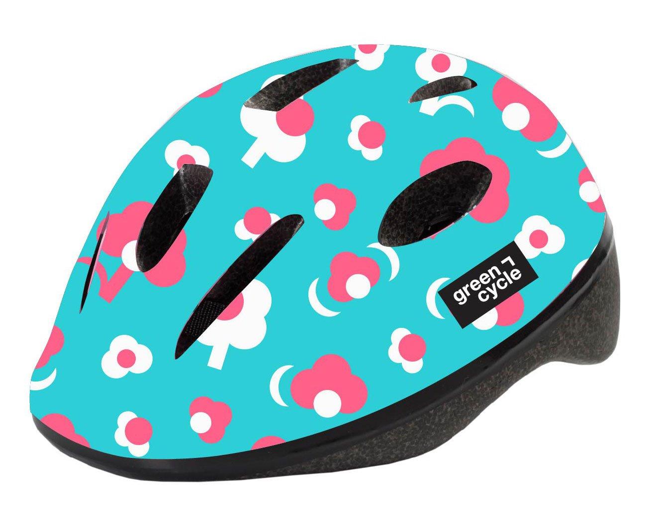 Шлем велосипедный детский Green Cycle MIA, бирюзовый (Размер: 50-54см)
