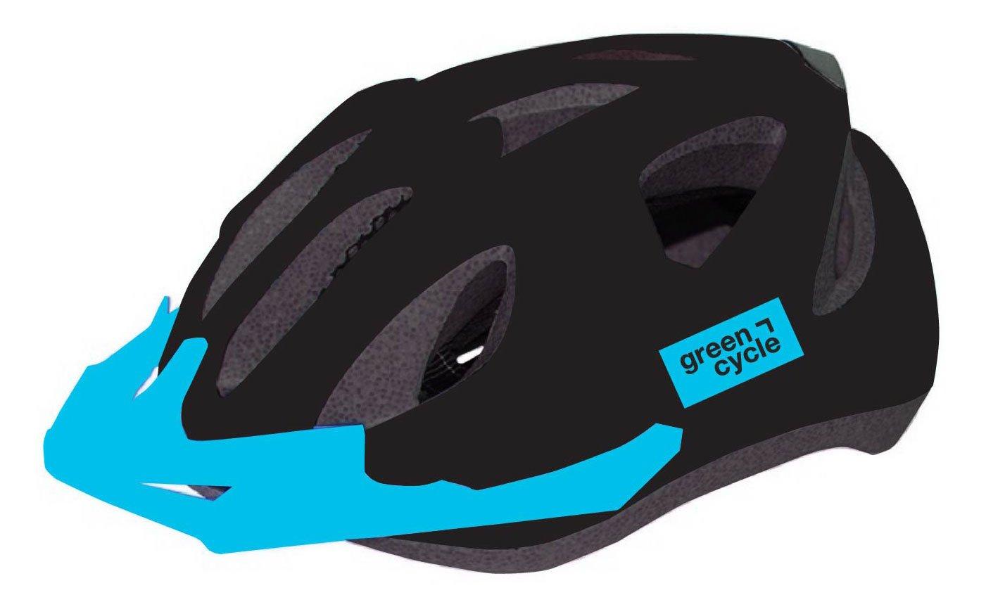 Шлем велосипедный детский Green Cycle ROWDY, черный лак (Размер: 50-56см)