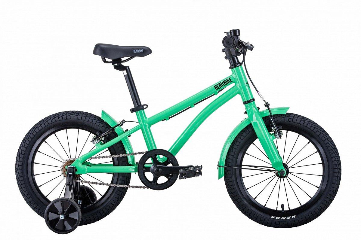 "Детский велосипед BEARBIKE Kitez 16"" 2020 (Рама: OS (Рост: 100-125см), Цвет: желтый)"