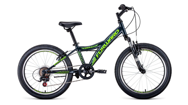 """Детский велосипед FORWARD DAKOTA 2.0 20"""" 2020 (Рама: 10,5"""" (Рост: 115-135см), Цвет: зеленый)"""