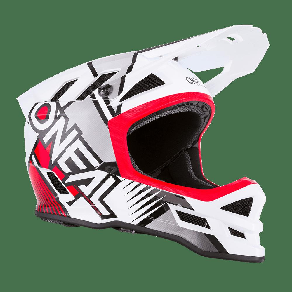 Шлем велосипедный O'Neal BLADE Polyacrylite Helmet DELTA white/red (Размер: M (57/58 cm)).
