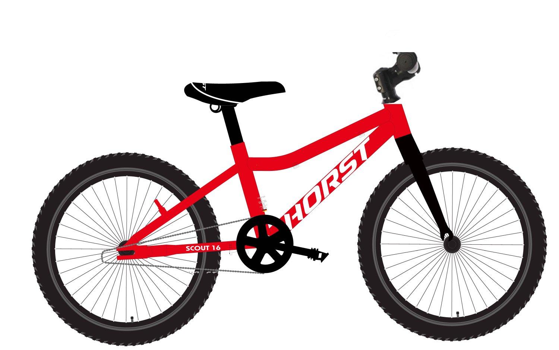 """Детский велосипед Horst SCOUT 16"""" 2021 (Возраст: 4-6 лет (Рост: 95-115см), Цвет: А)"""