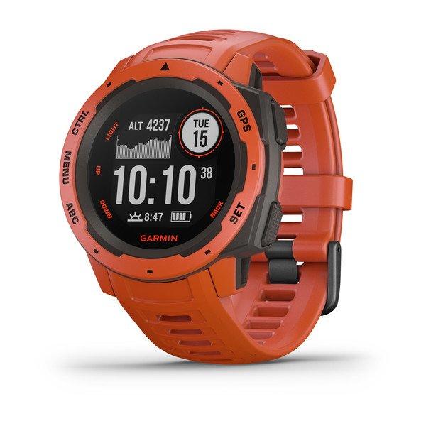 Смарт-часы спортивные Garmin Instinct Solar, Flame Red, 010-02293-20